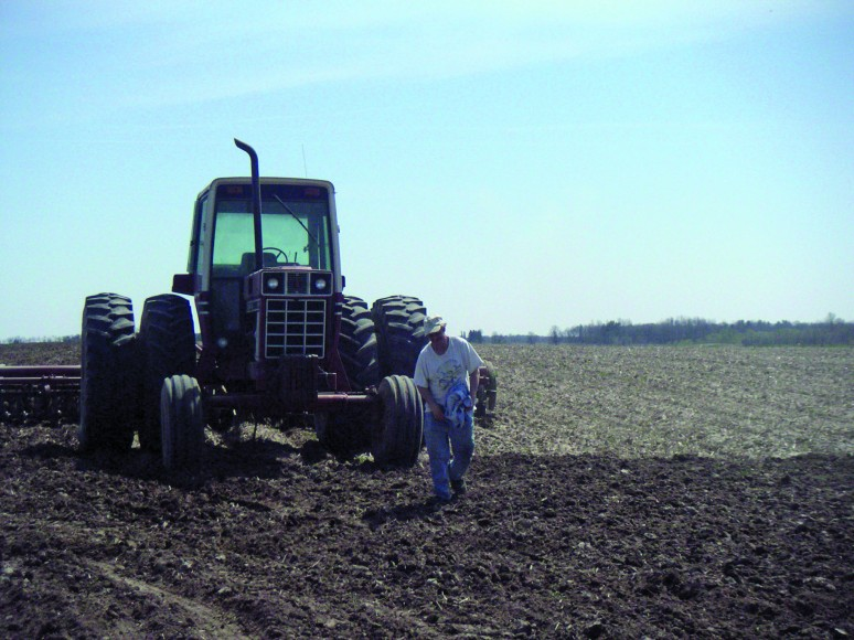 Tractor Farmer Approaches